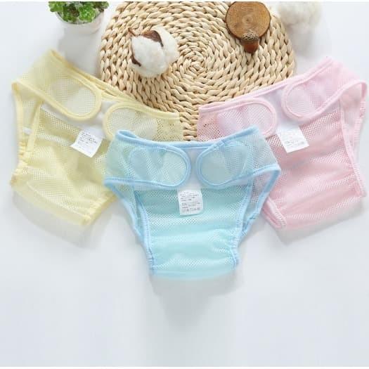 Foto Produk Clodi Jaring Mesh   Diaper Celana Popok Bayi Jaring - Biru, S dari bobo baby shop