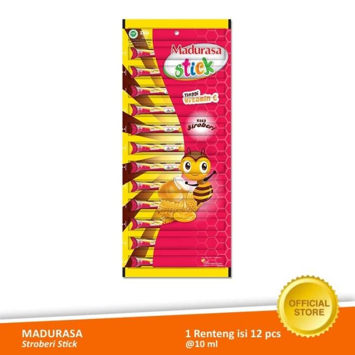 Foto Produk Madurasa Stroberi Stick 12x10 ml - Renteng dari Air Mancur Official Shop