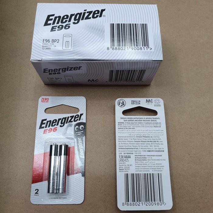 Foto Produk Baterai Alkaline Energizer AAAA E96 Isi 2 ORIGINAL dari One piece shoper