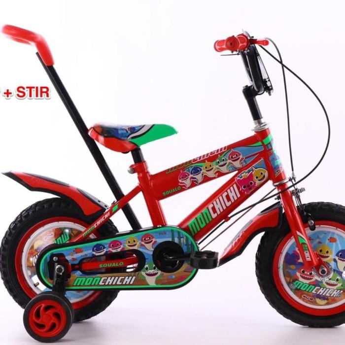Jual Sepeda BMX 12 inch Monchichi + Tongkat Pendorong