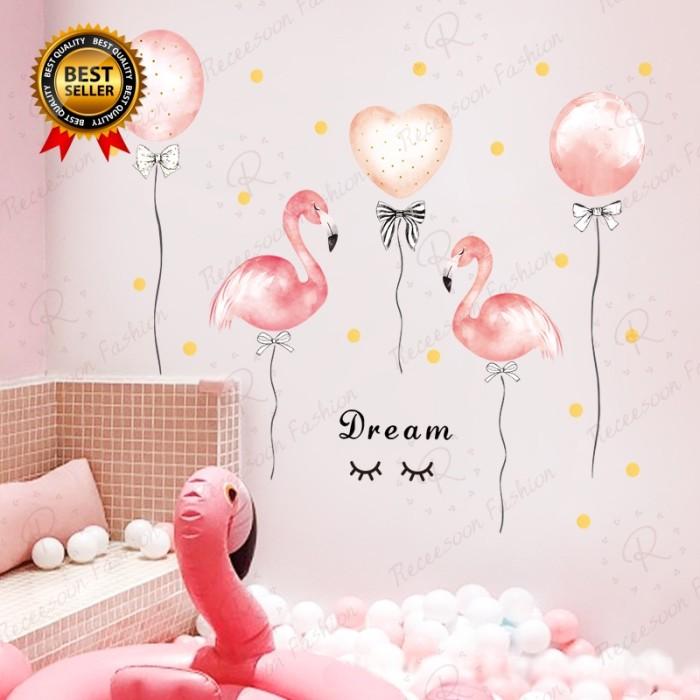 Jual Stiker Dinding Decal Desain Flamingo Pink Untuk Kamar Anak Perempuan Jakarta Barat Pusat Ramay Tokopedia