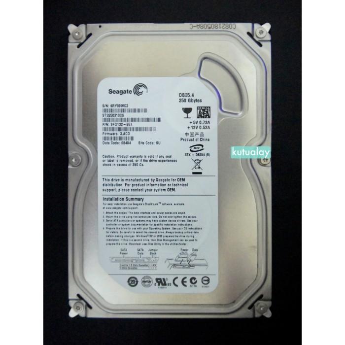 Foto Produk Hardisk 250GB PC Internal Komputer SATA 100% Sentinel 3.5 250 GB HDD dari Kutualay