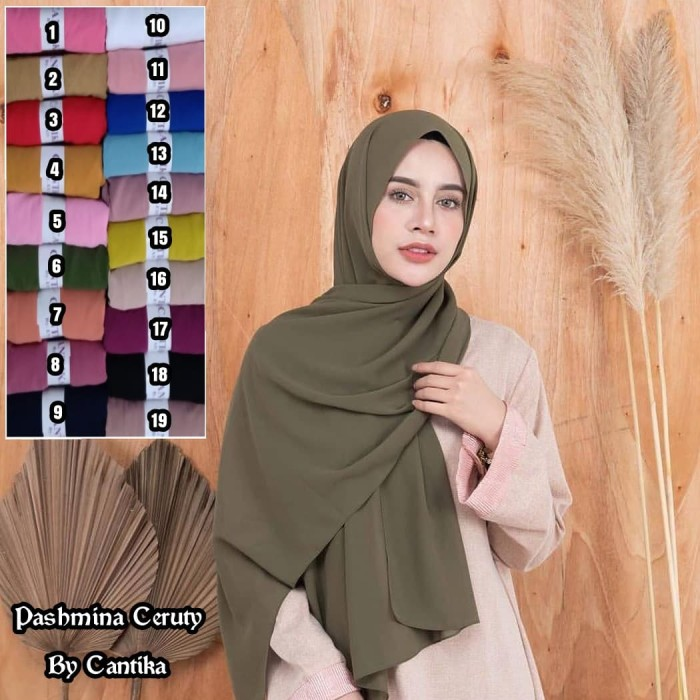 Jual Pashmina Sifon Pasmina Sifon Jilbab Sifon Polos Jilbab Cantik Kota Tangerang Selatan Angel Hijab Store Tokopedia