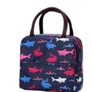 Foto Produk 018 insulated lunch bag cooler bag tas bekal kotak makan rantang lucu - A Hiu Hitam dari VAPOR LAB