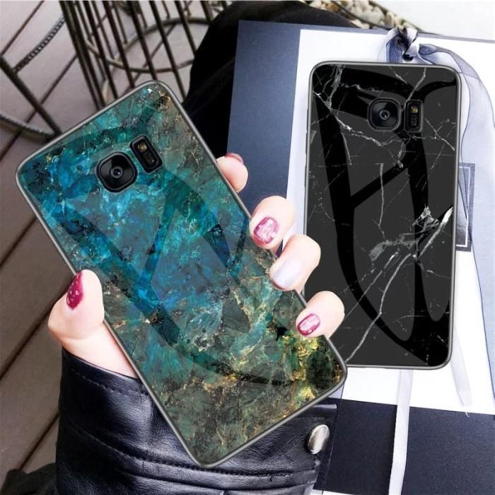 Foto Produk Marble Glass Case Samsung Galaxy S7 Edge S7Edge Back Cover Casing dari Akhe Online Shop
