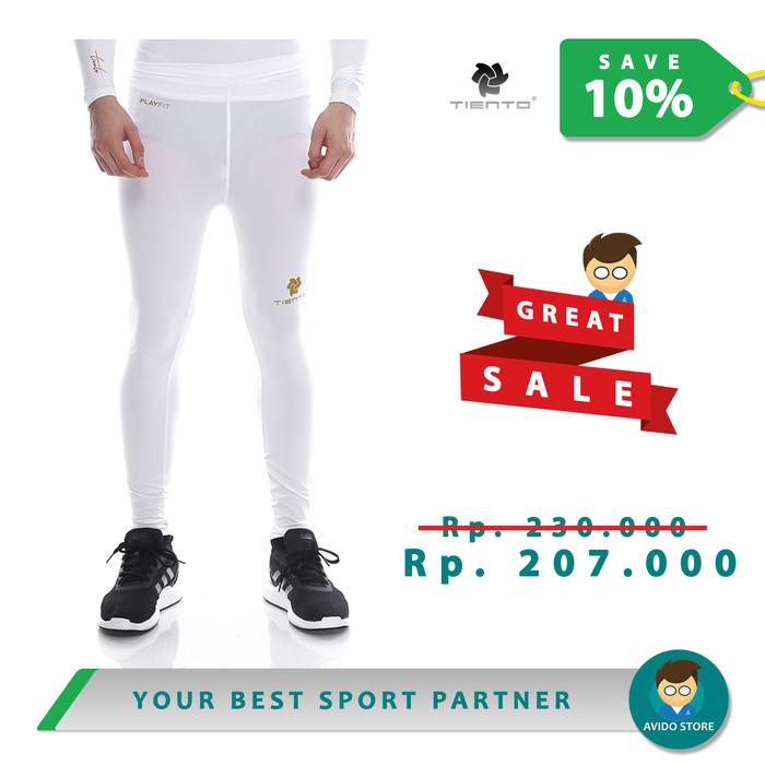 Jual Baselayer Tiento Celana Olahraga Pria Legging Leging Long Pants White Putih Xxl Kota Bandung Avido Store Tokopedia