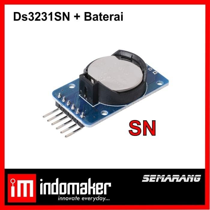 Foto Produk [D10] - DS3231SN DS3231 SN I2C RTC Module & Baterai Modul Jam Arduino dari indomaker