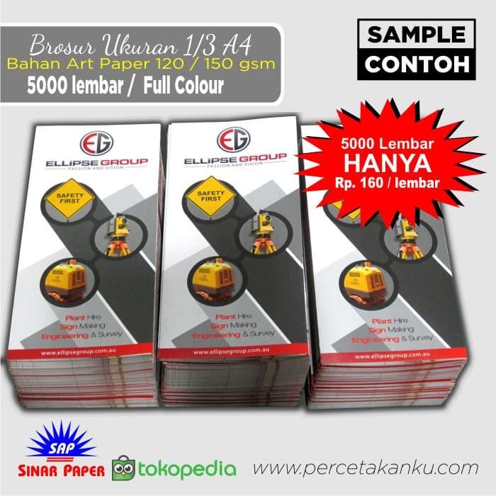 Foto Produk Brosur/Flyer, Ukuran 1/3 A4, 5000 pc / APaper 120/150 gr, bisa 6 model dari Sinar Paper