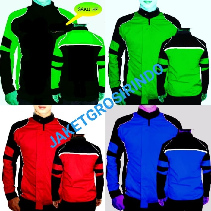 Foto Produk jaket polos tahan air - Merah Salem, XXL dari jaketgrosirindo