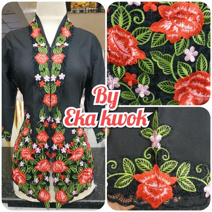 Foto Produk Kebaya hitam rose merah - Hitam, S dari eka kwok