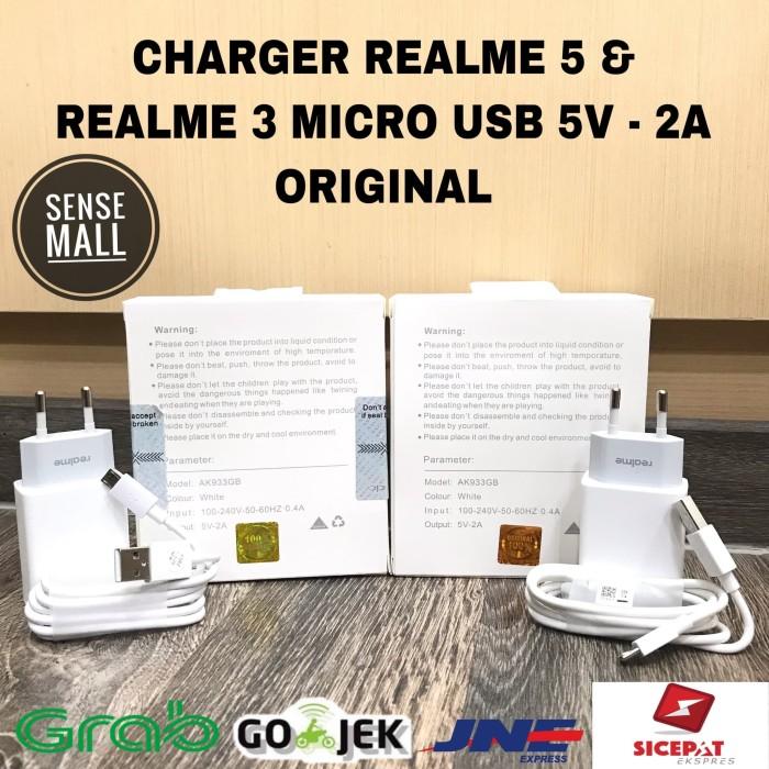 Foto Produk CHARGER REALME 3 / REALME 5 MICRO USB 2A AK933YH ORIGINAL - Ori B dari Sense mall