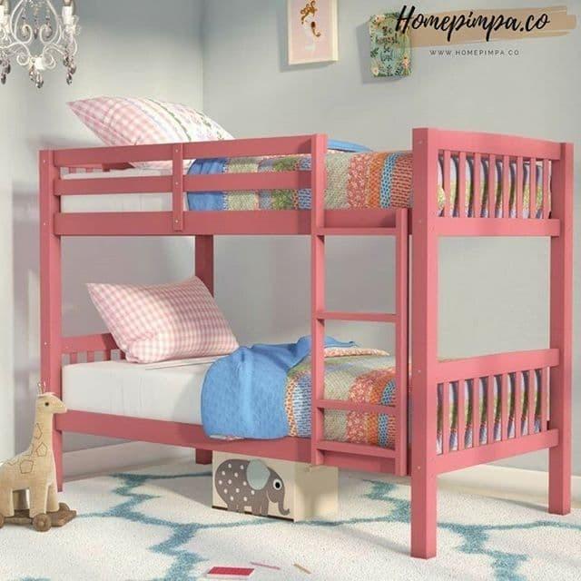 Jual Tempat Tidur Tingkat Anak Perempuan Cat Duco Pink Desain Minimalis Kab Jepara Home Pimpa Tokopedia