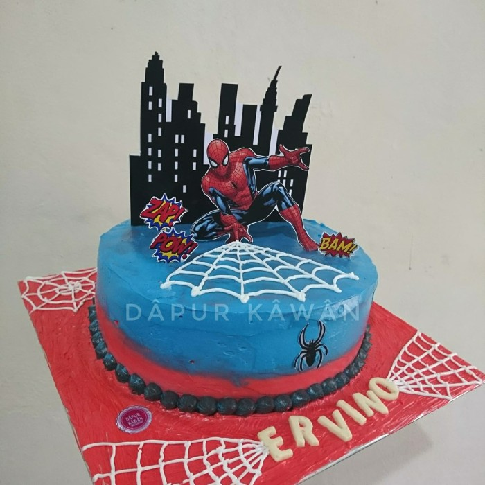 Jual Kue Ulang Tahun Karakter Spiderman Blackforest Kota Tangerang Kawan Accessories Tokopedia