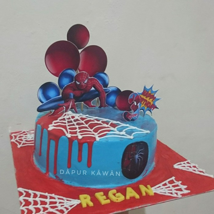 Jual Kue Ulang Tahun Karakter Spiderman 2 Blackforest Kota Tangerang Kawan Accessories Tokopedia