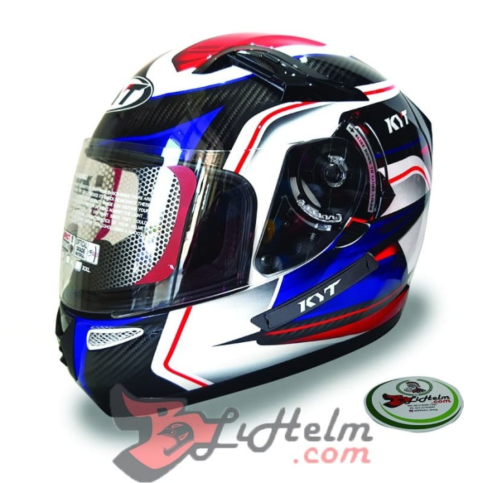 harga Helm kyt k2 rider sf#2 white carbon black blue Tokopedia.com