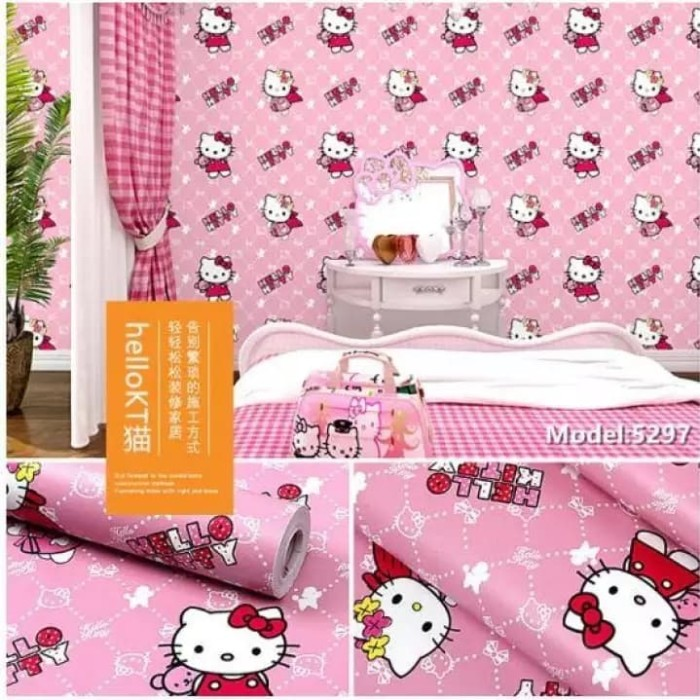 Jual Hello Kitty 45cm X 10mtr Wallpaper Sticker Dinding Jakarta Utara Wallpaper Bosku Tokopedia