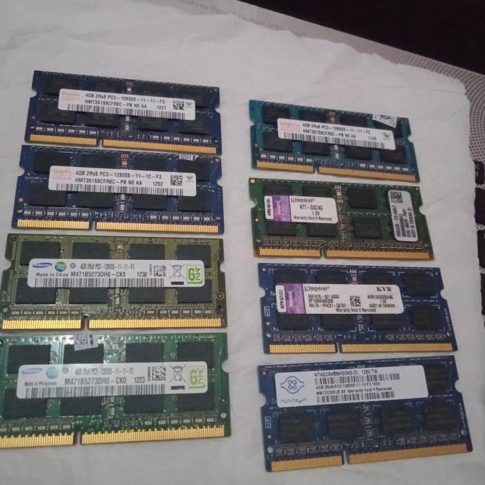 Foto Produk Ram laptop ddr3 4GB SK HYNIX SAMSUNG KINGSTON DLL pc12800 1600MHZ 1.5V dari MultiKapinShop