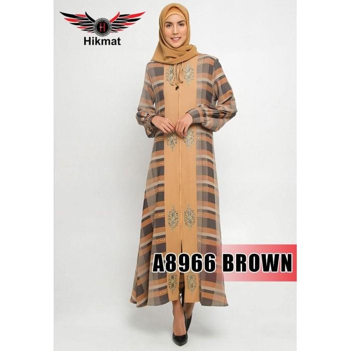 Jual Gamis Pesta Busana Muslim Abaya Hikmat Fashion A 8966 Brown Terlaris Jakarta Pusat Skincare Halal Jakarta Tokopedia