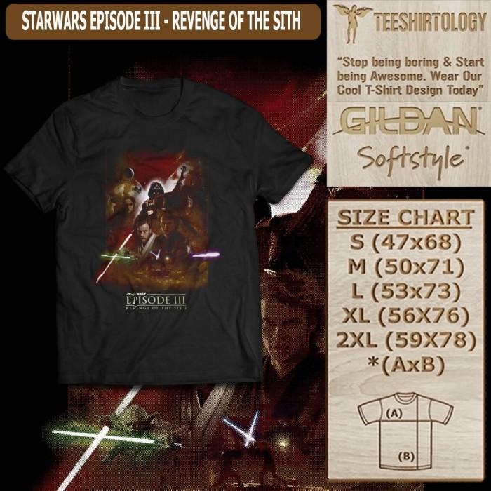 Jual Kaos Tshirt Movie Starwars Episode Iii Revenge Of The Sith Jakarta Barat Tee Shirtology Tokopedia