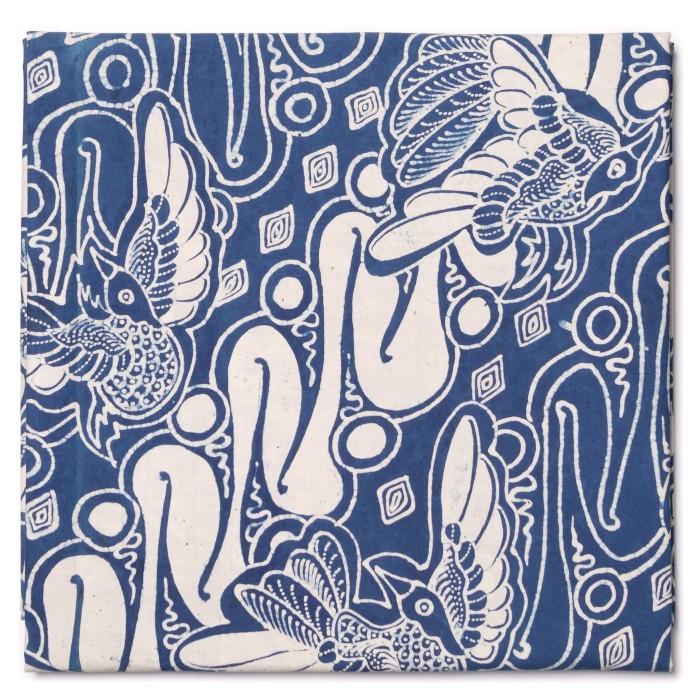 Foto Produk Kain Batik Tulis Warna Alam Klaten Motif Parang Burung Indigo dari Kainusa