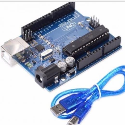 Foto Produk KHUSUS pelajar,mahasiswa *BELI MAX 3 PCS* Arduino Uno R3 16U2 DIP 328 dari art techno