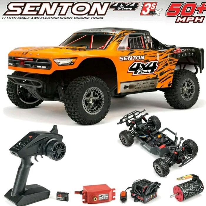 Foto Produk ARRMA SENTON 4x4 3S BLX Brushless warna Orange RTR dari Stevi Shop