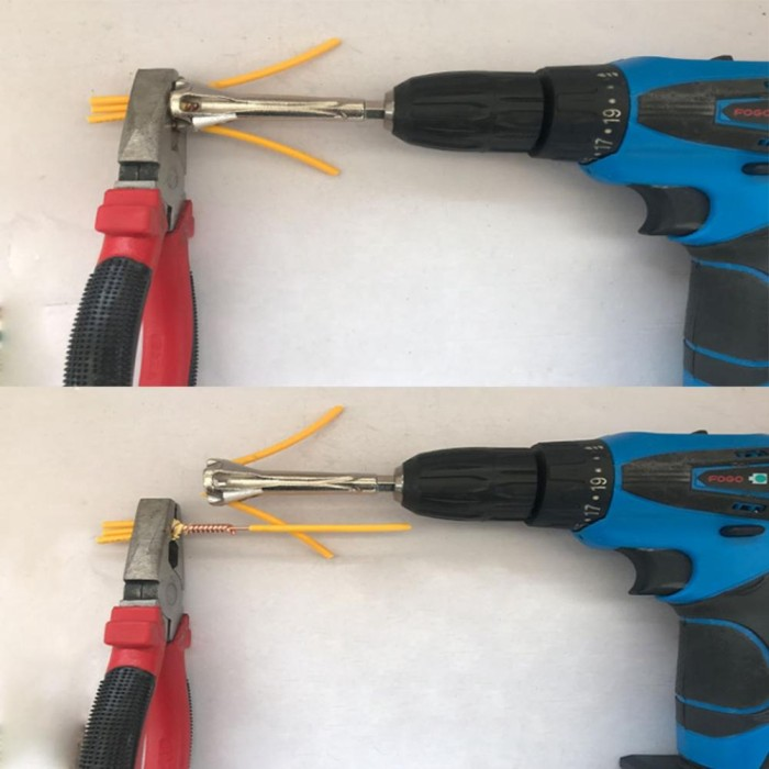 Stripping Wire Twisting Peeling Tool Wire Machine Stripper Twister Connector CT