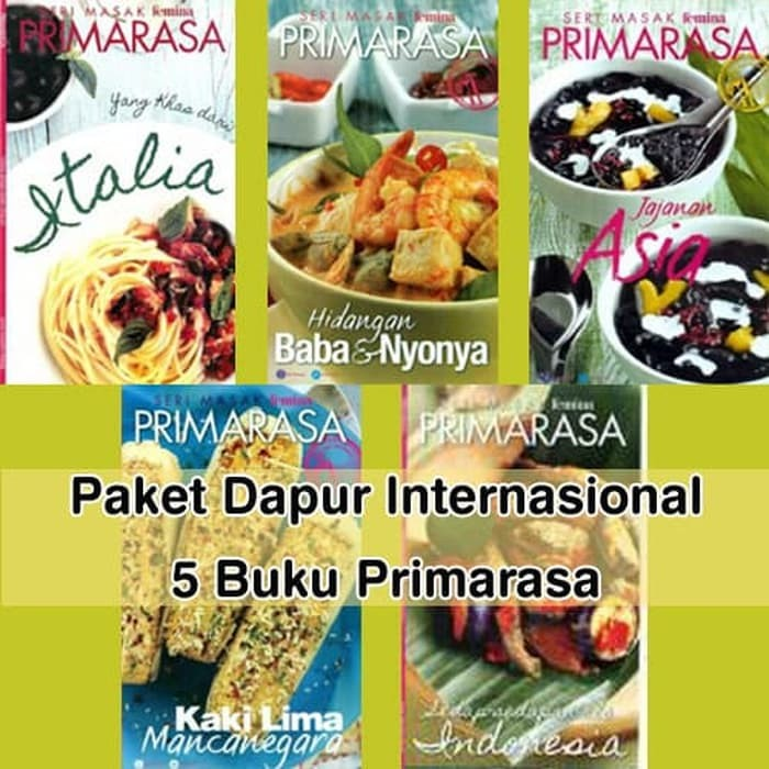 Jual Buku Resep Masakan Paket Primarasa 5 Buku Dapur Internasional Jakarta Utara Jasmin Widiastuti Tokopedia