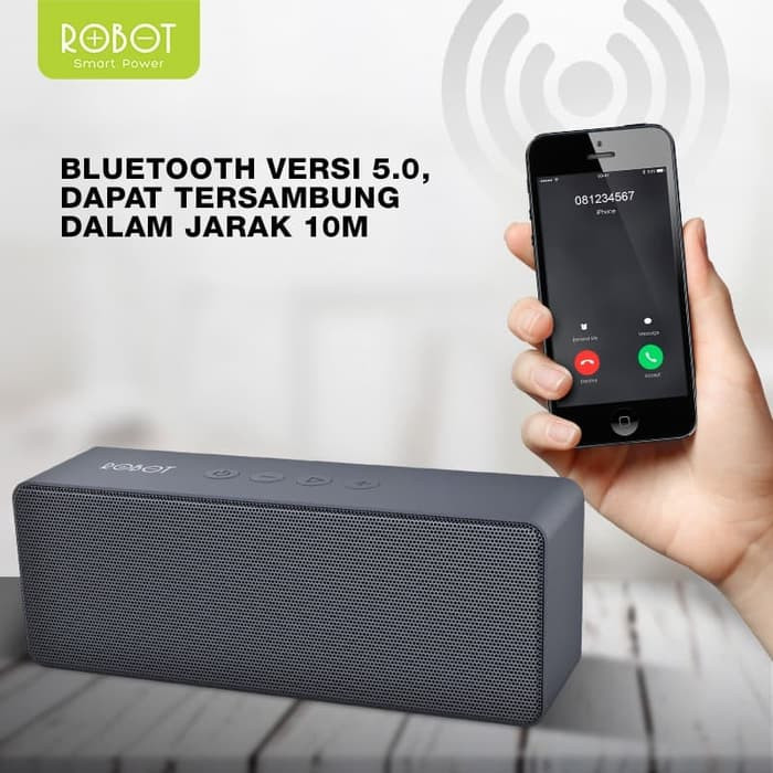 Foto Produk ROBOT RB420 Speaker Bluetooth Portable RB420 v5.0 Original - Abu-abu dari vivan storee