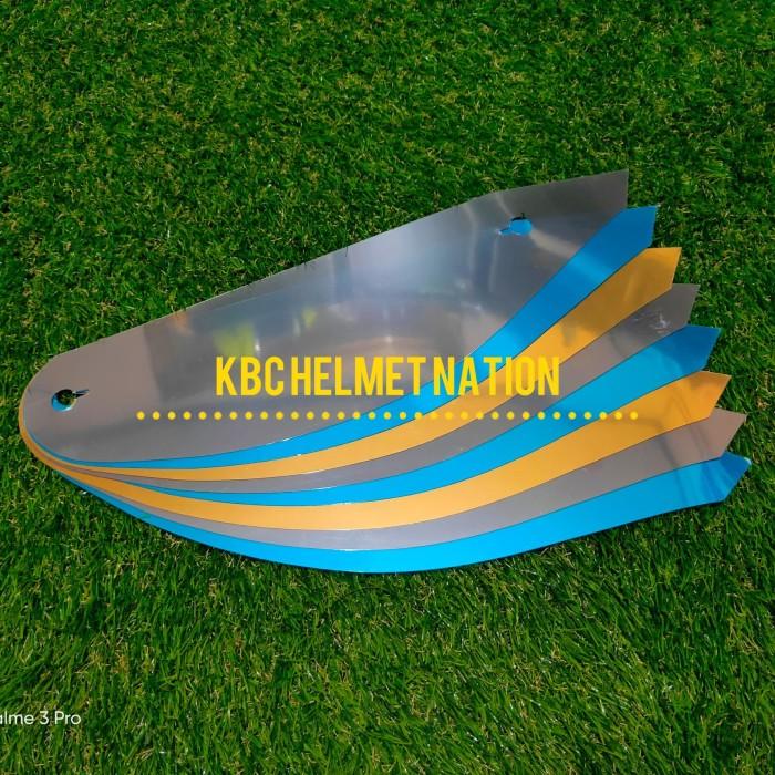 Foto Produk tear off kbc thx blue gold silver dari kbc best helmets