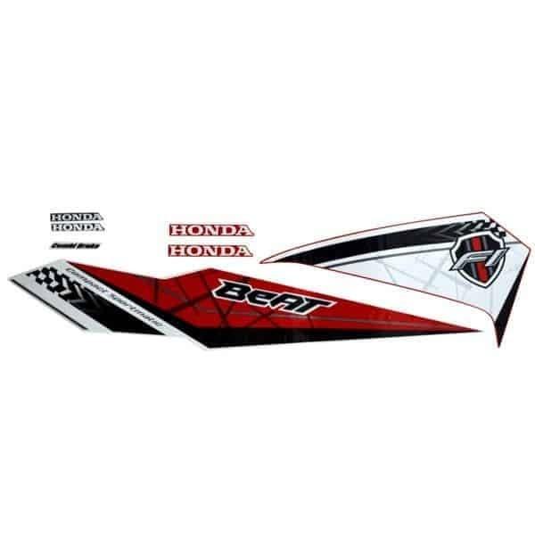 Foto Produk Sticker Body Kiri Merah Putih (Funk Red) – New BeAT eSP dari Honda Cengkareng