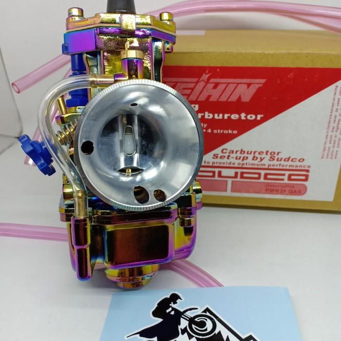 Jual karbu PWK 28 Keihin rainbow pelangi karburator PWK 28