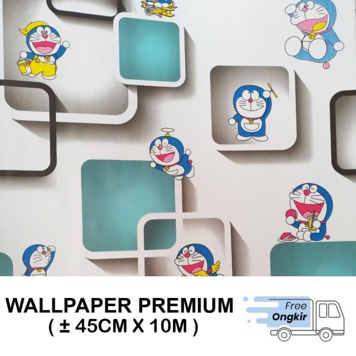 Jual Wallpaper Dinding Stiker Walpaper Dinding Doraemon Kotak 3d