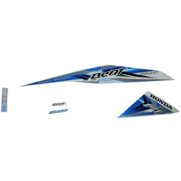 Foto Produk Sticker Body (Stripe Set) R White Blue - BeAT Sporty eSP (K25) dari Honda Cengkareng