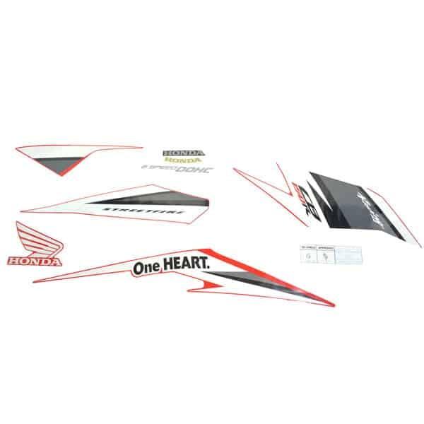 Foto Produk Sticker Body Kanan (Stripe Set R) Winning Red - CB150 StreetFire K15M dari Honda Cengkareng