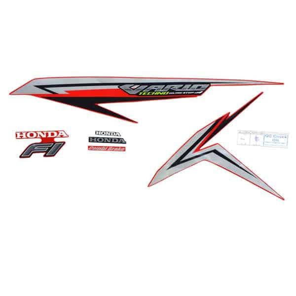 Foto Produk Sticker Body Kiri (Stripe Set L Red) - Vario 125 eSP dari Honda Cengkareng