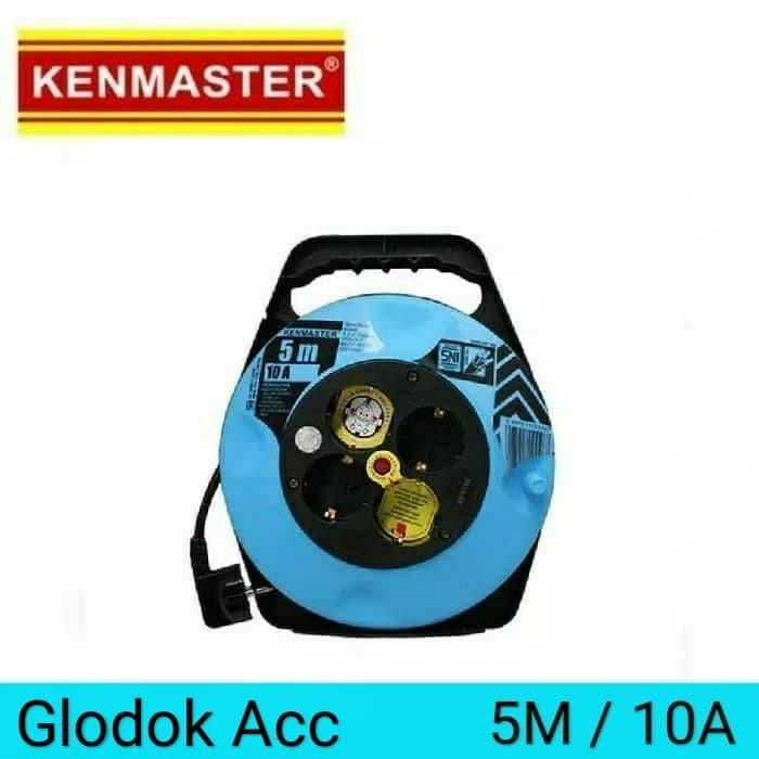 Foto Produk Kabel Roll 5m / Kenmaster Kabel Rol 4 Lubang dari Glodokacc