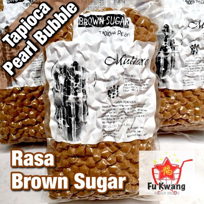 Foto Produk Bubble Tapioka Tapioca Pearl Bubble Mutiara Rasa Brown Sugar 1 kg dari Fu Kwang Mart