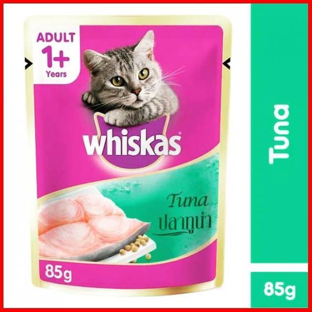 Jual Makanan Kucing Cat Food Whiskas Basah Pouch Tuna Murah