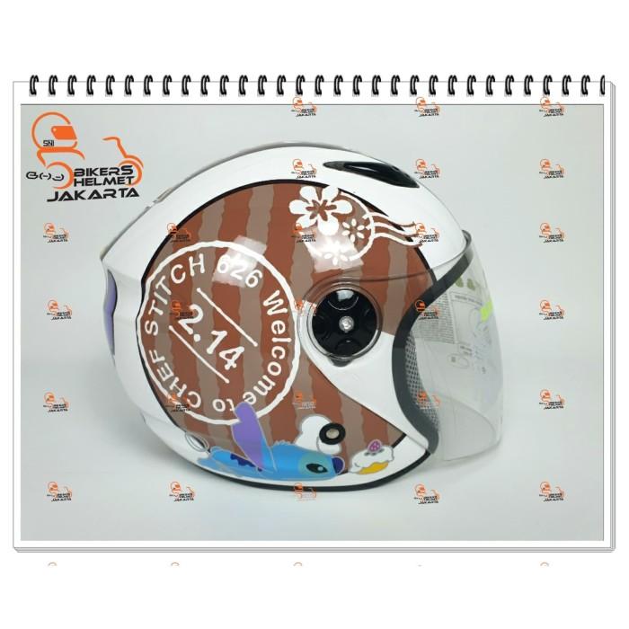 Jual Bmc Helm Milan Stich Brown Coffe Half Face Jakarta Utara Bikers Helmet Jakarta Tokopedia