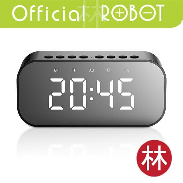 Foto Produk Robot RB550 Bluetooth Speaker 5.0 With LED Display & Alarm Clock dari Liem