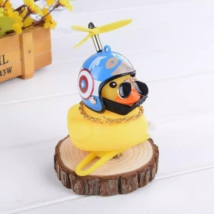 Jual Mainan Bebek Kuning Helm Baling LED - Bebek Motor