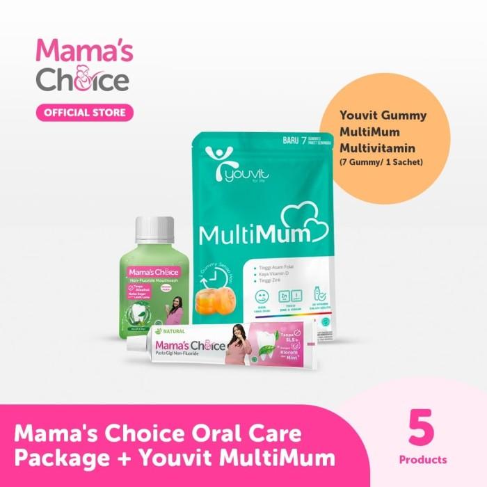 Foto Produk Mama's Choice Paket Pasta Gigi & Mouthwash + Youvit Multimum dari MamasChoiceID