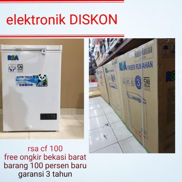 Jual Freezer Rsa Cf 100 Freezer Box Kota Bekasi Elektronik Diskon Tokopedia