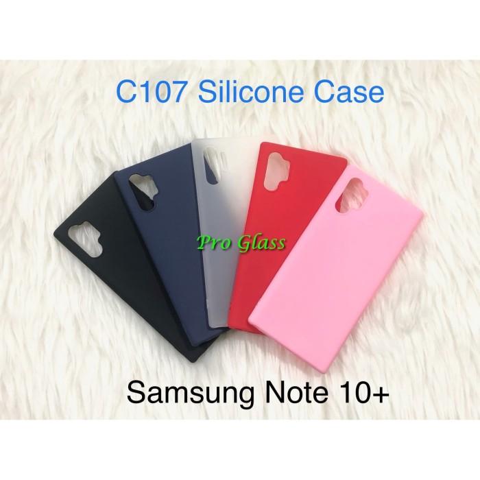 Foto Produk C107 Samsung Note 10 PLUS Colourful Ultrathin Silicone Matte Case dari Pro Glass
