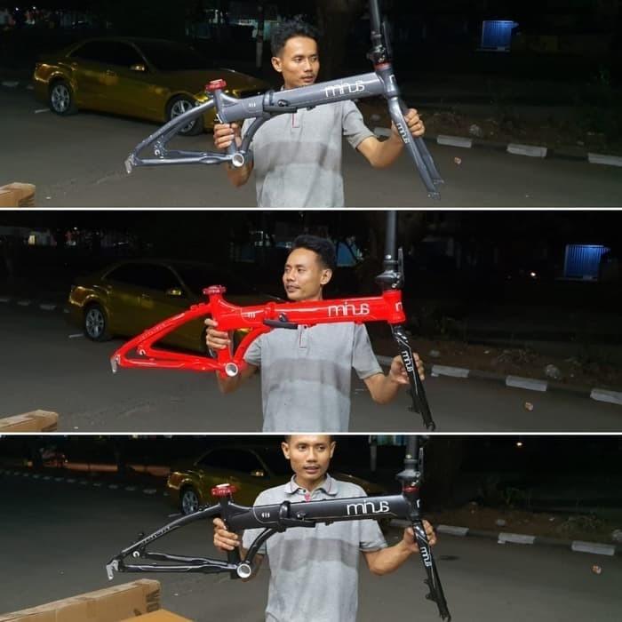 Foto Produk terlaris frame sepeda lipat minus 20inc aloy dari pdokstore