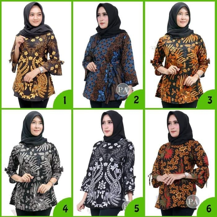 Foto Produk Atasan Batik Wanita B Blus Batik Pekalongan Wanita - Blus F, M dari BATIK MURAHJAYA
