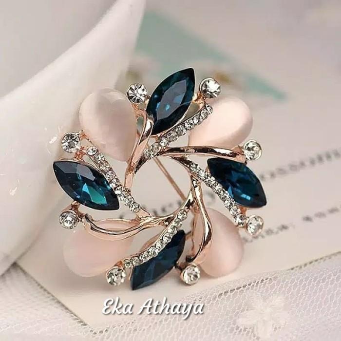 Foto Produk Bros jilbab permata biru Candice import dari kurato ind