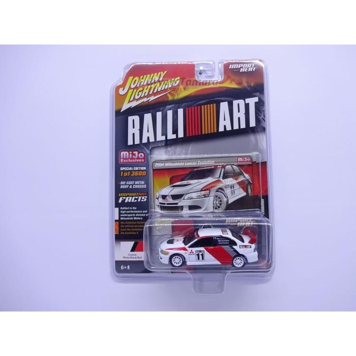 Foto Produk Johnny Lightning RALLI ART - 2004 Mitsubishi Lancer Evolution Putih dari Bryan Toys Shop