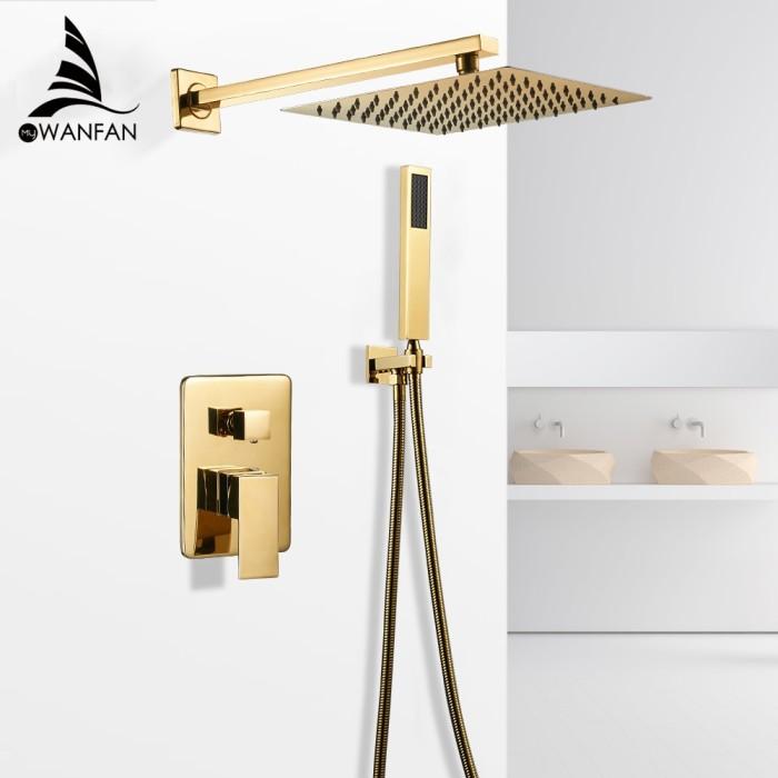 Bathtub Faucets Gold Bath Rain Shower
